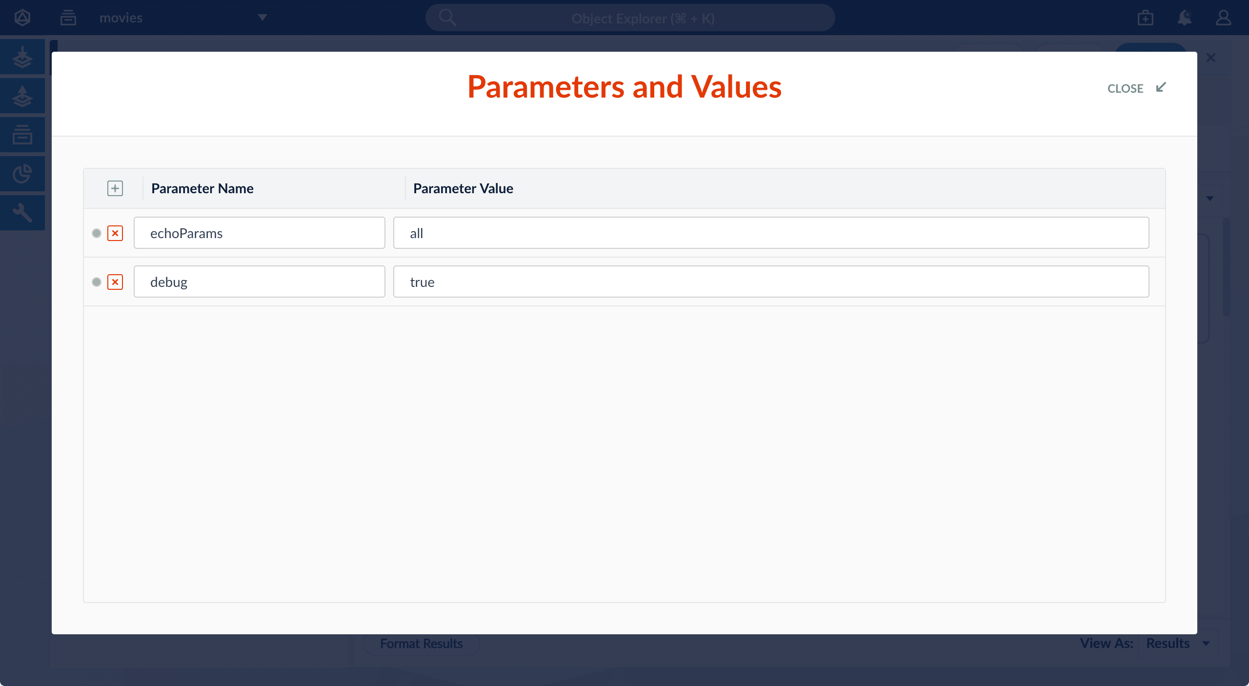 Parameters and Values